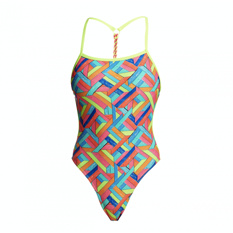 Maillot de Bain Femme Panel Pop Dos Twist