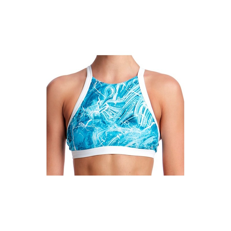 Brassière Top Crop Mint Marble