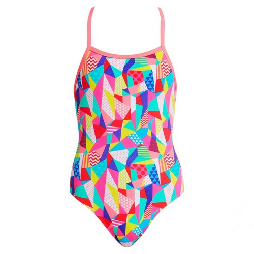 Maillot de bain fille - Pastel Patch - Doubles Bretelles