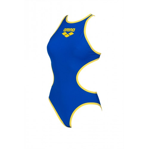 Maillot de bain femme One Biglogo Neon Blue Yellow Star