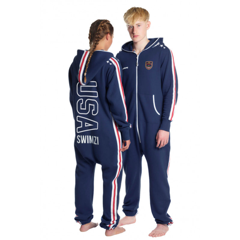 SWIMZI NAVY RED USA