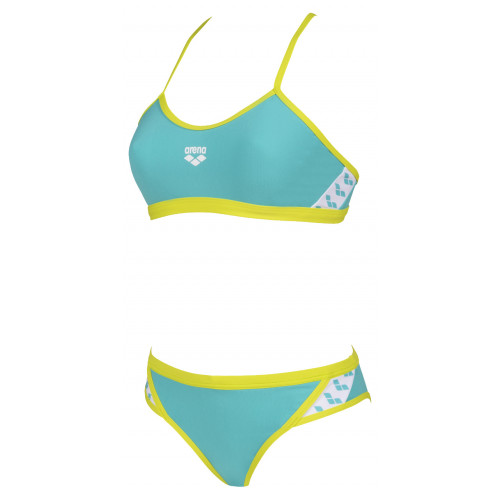 Maillot Femme 2 pièces Team Stripe Mint Soft Green