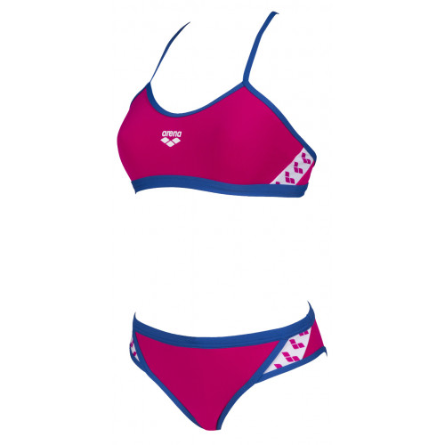 Maillot Femme 2 pièces Team Stripe Freak Rose Royal