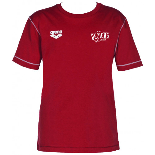 Tee-Shirt ARENA Junior ASC Béziers Red