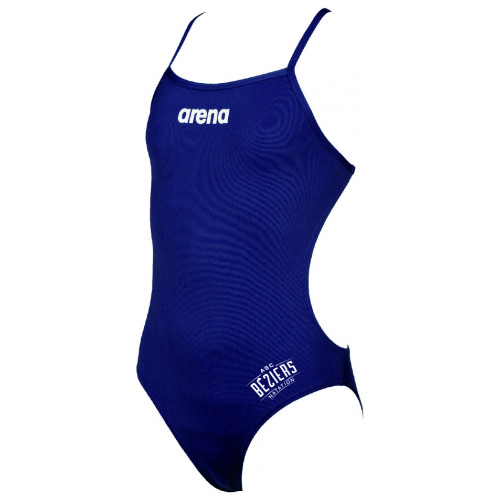 Maillot de Bain Fille ARENA Solid Light Tech Navy ASC Béziers