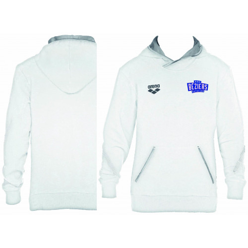 Sweat Hoodie Unisexe White ASC Béziers Natation