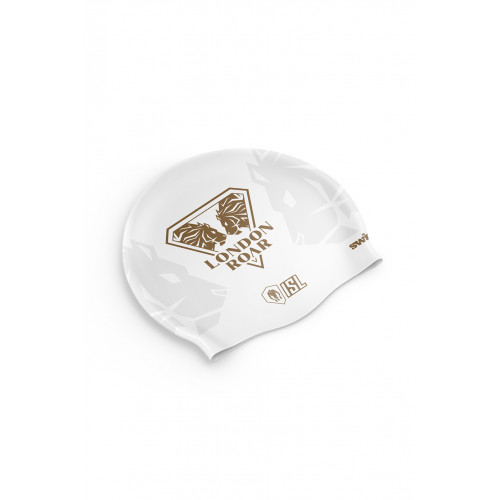 Bonnet Swimzi London Roar Swim Cap White
