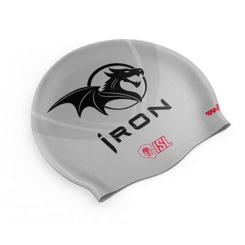 Bonnet Swimzi Iron Swim Cap Silver