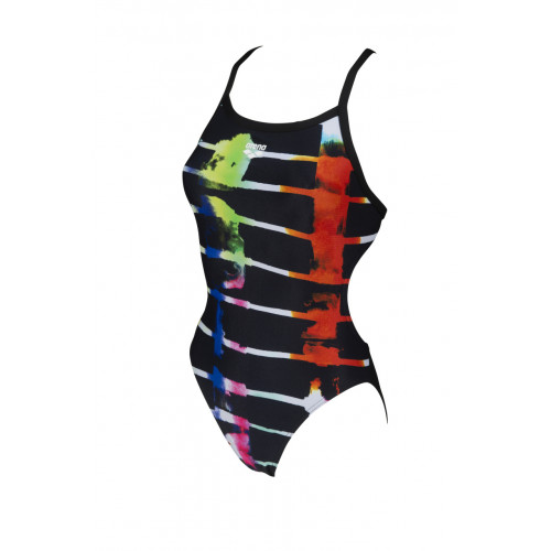 Maillot de bain femme Sunset Stripes Challenge Back Black Multi Black